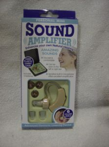 Sound amplifier advanced electronic listening device hearing aid.